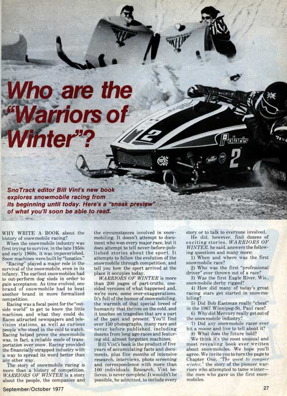 Warriors of Winter - Traction Industry History - Bergstrom